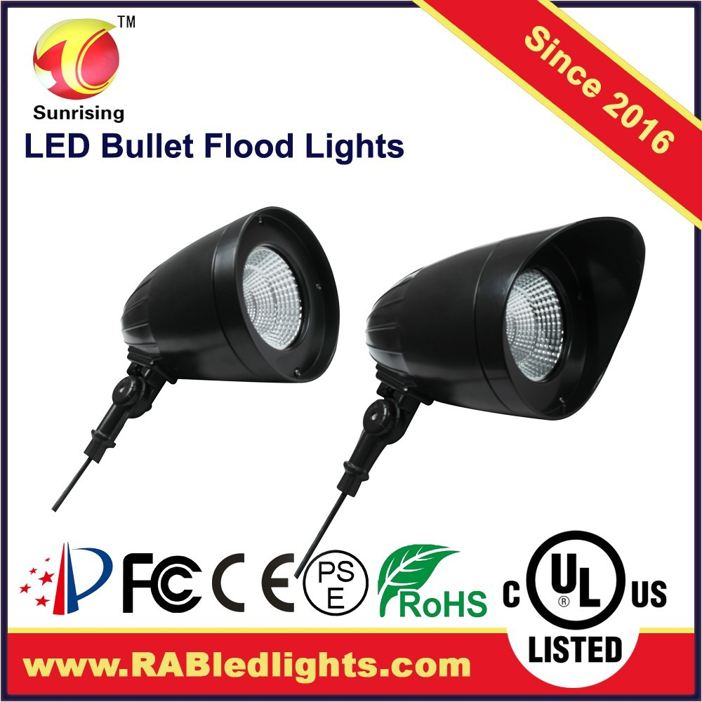 2016 New design High power from China 30w LED Bullet Flood light Fixture with Hood & Lens with meanwell driver