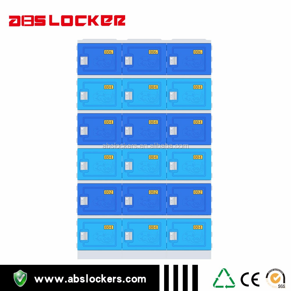 Factory supply ABS lockers safe cabinet water park facility