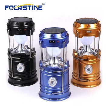 ABS 6 LED Rechargeable Solar Camping Lantern Outdoor Solar Zoom Camping Lamp