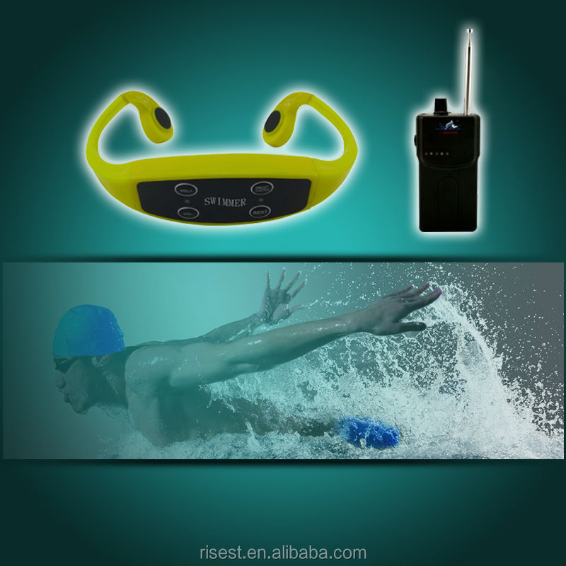 """Sports Bone Conduction earphone, Ear hook headset receiver for Swimming training, a good underwater hearing aid"