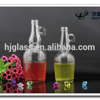 wholesale factory 750ml olive oil glass bottle with handle