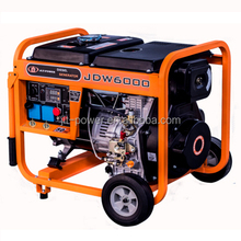 Electric/Key start 5kva portable diesel welding generator used diesel welder generator for sale