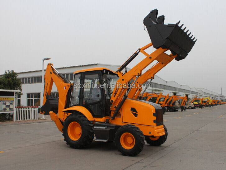 4 Wheel Drive Big Backhoe Loader with 6 in 1 Bucket 4 in 1 bucket
