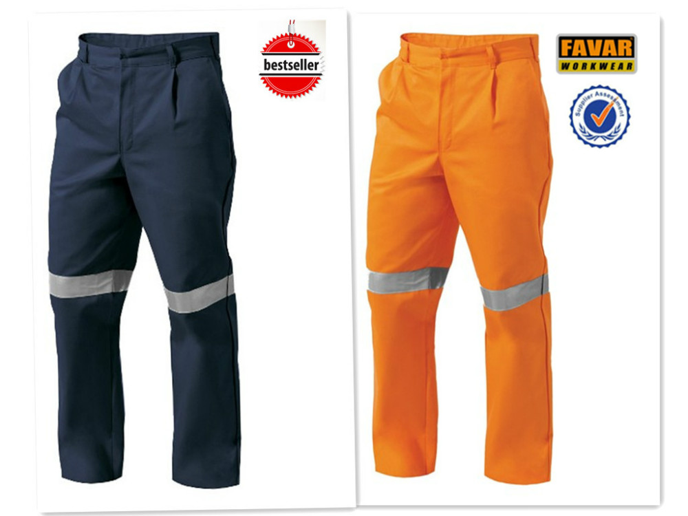 Mens Cargo Work Pants High Vis Reflective Protect PPE