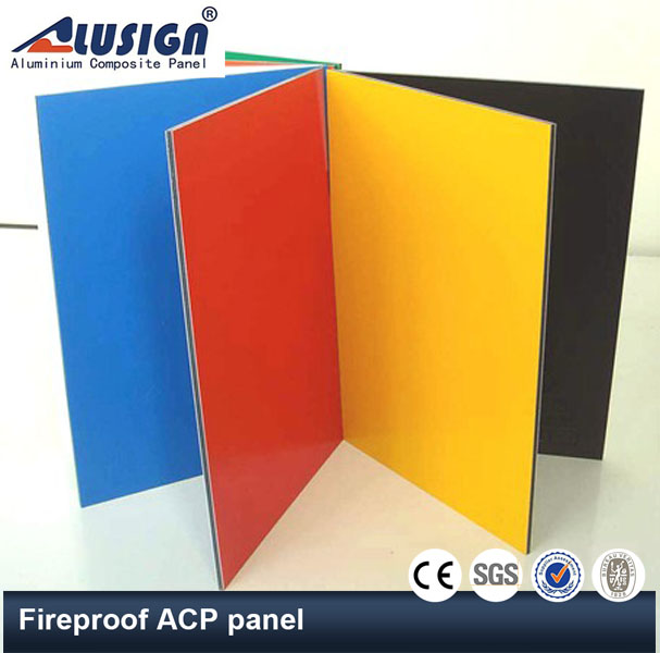 Alusign aluminum cladding panel different colors aluminum composite panel fireproof /wall material/acp sheet