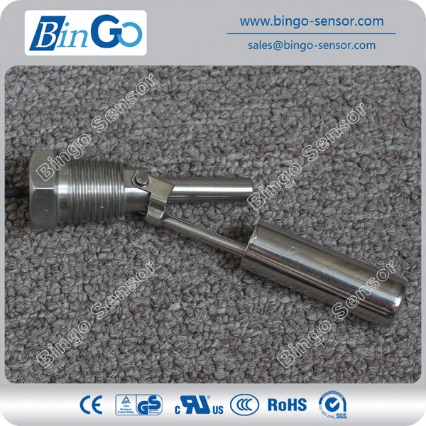 1/2'' NPT high temperature horizontal Float Level Switch, SUS304 / SUS316L,Horizontal G1/2 water level switch