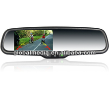 4.3 inch car special rearview mirror monitor auto dimming with No.33 bracket special FOR FIAT