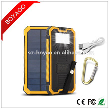 8000mAh Sun PowerBank External Battery Pack Waterproof Solar Power Bank 2A Output Portable Charger Solar Powerbanks
