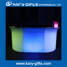 promotional plastic led bar counter outdoor event decorations illuminated bar table light up led lounge furniture