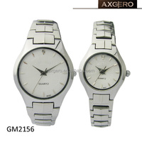 generous stainless steel pair couple used watches