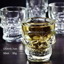 50ml glass skull wine cup wine glass