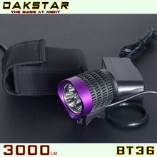 DAKSTAR 2013 Main Product BT36 CREE XML T6 LED High Power Aluminum Rechargeable Bicycle Lights Super Bright