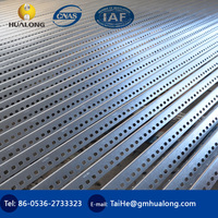 light stainless slotted steel angle with holes