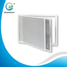 Aluminium Egg Crate Grille with Hinged Filter Return Air Grille Air Louver for Air Conditioner