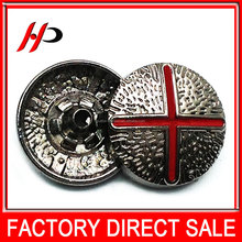 Black nickel gunmetal custom logo 15mm,17.5mm round on a zinc alloy metal snap button for coats