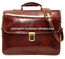 Modern Promotional Satchel Bags / briefcase laptop computer bag / customized leather pictures of laptop bag