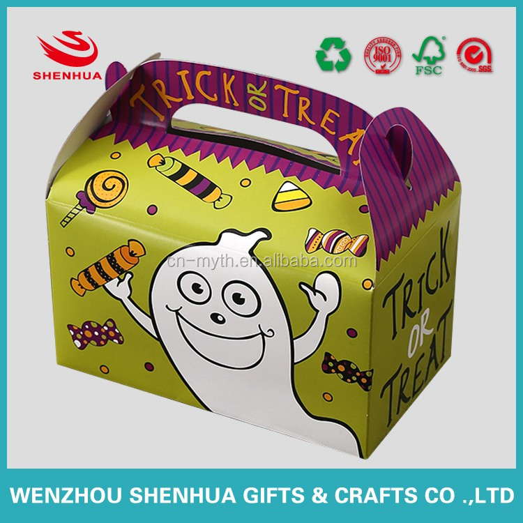 wholesale food grade cake paper box gift box for Halloween with cute and funny design
