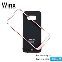 New arrivals 2018 portable external protective magnetic battery case for Samsung S8 On winx wholesale