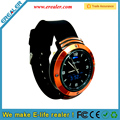 Water Resistant Alarm Feature quartz round pedometer smart watch