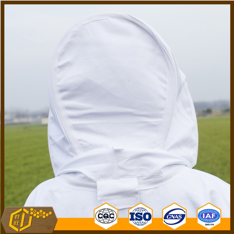 Beekeeping equipment bee jacket cotton beekeepers protective bee suit with veil