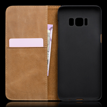 Phone accessories leather phone case with wallet for Samsung Galaxy S8