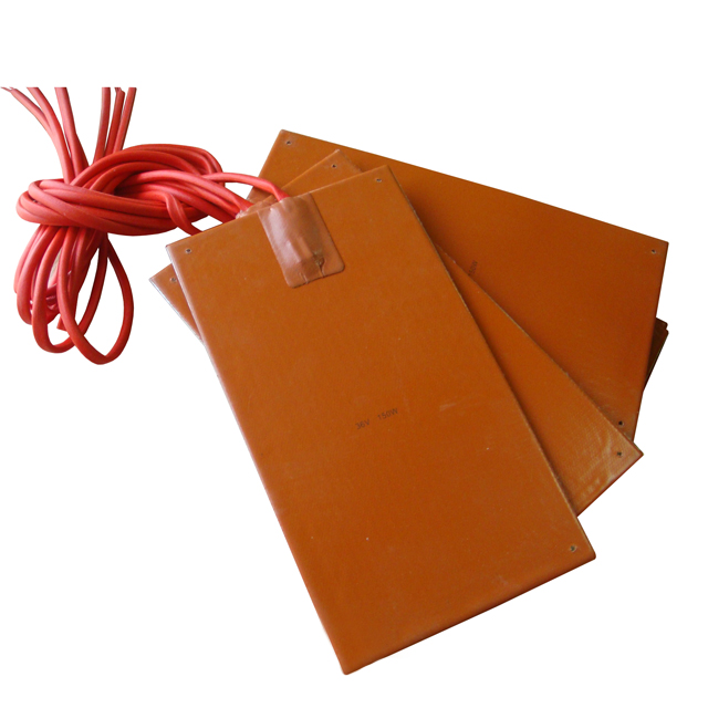 "4.7"" x 3.9"" 12 V 10 W adhesive <strong>heating</strong> at 50 C Silicone Heater Pad Honey BeeHive Warmer"