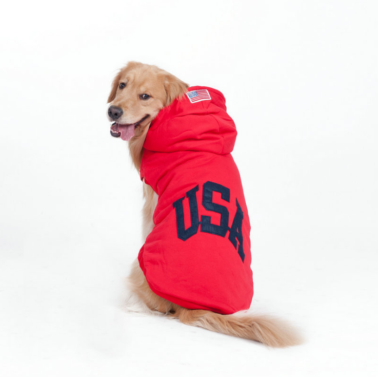 winter pet product big dog pet clothes red large size dog sweater sew USA