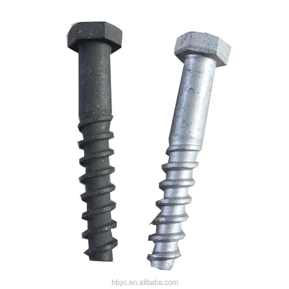 railway fastener rail sleeper coach screw spike,Tirefond for railway