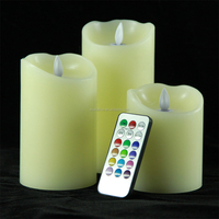 Wax Flameless Moving Wick LED Candle / Moving Flame led Candle