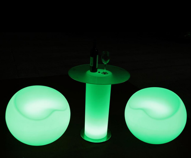 Waterproof color changing led <strong>bar</strong> chair , glowing led sofa chair apple shape for <strong>bars</strong>/nightclub