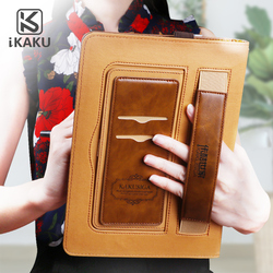 KAKU stylish ultra thin kickstand shockproof casual style ultra slim pu leather cover case for apple ipad mini 4