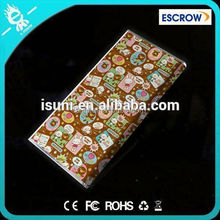 Universal lady wallet rechargable AAA battery 8000mah hello kitty power bank for smart phone