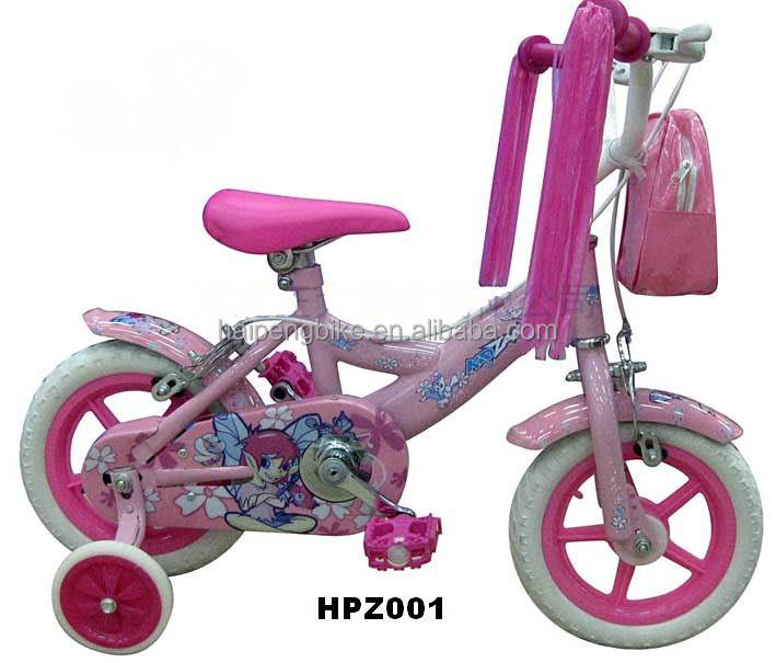 pink color 12 Inch Cheap carbon Kid bike children bicycle for pakistan market High end 4 wheel bike