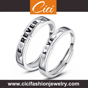 Wholesale New Silver Ring Emerald Silver Ring Infinity Silver Ring Engraved Inside