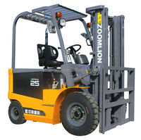 2.5 ton hot sale four wheel forklift truck electric