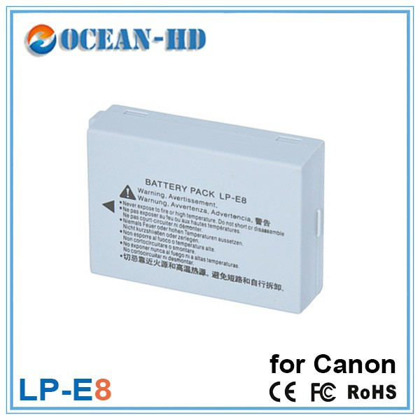 Deep cycle external china made lithium rechargeable batteries LP-E8 for Canon cameras