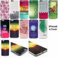 Super Flexible TPU Case For Iphone 6 6s Slim Back Protect Skin Rubber Phone Cover Silicone Gel Case