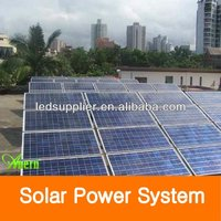 5KW solar panel pole mounting system With Grid Power Switch For Sale