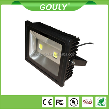 24v 12v 100watt cob led floodlight with black casing