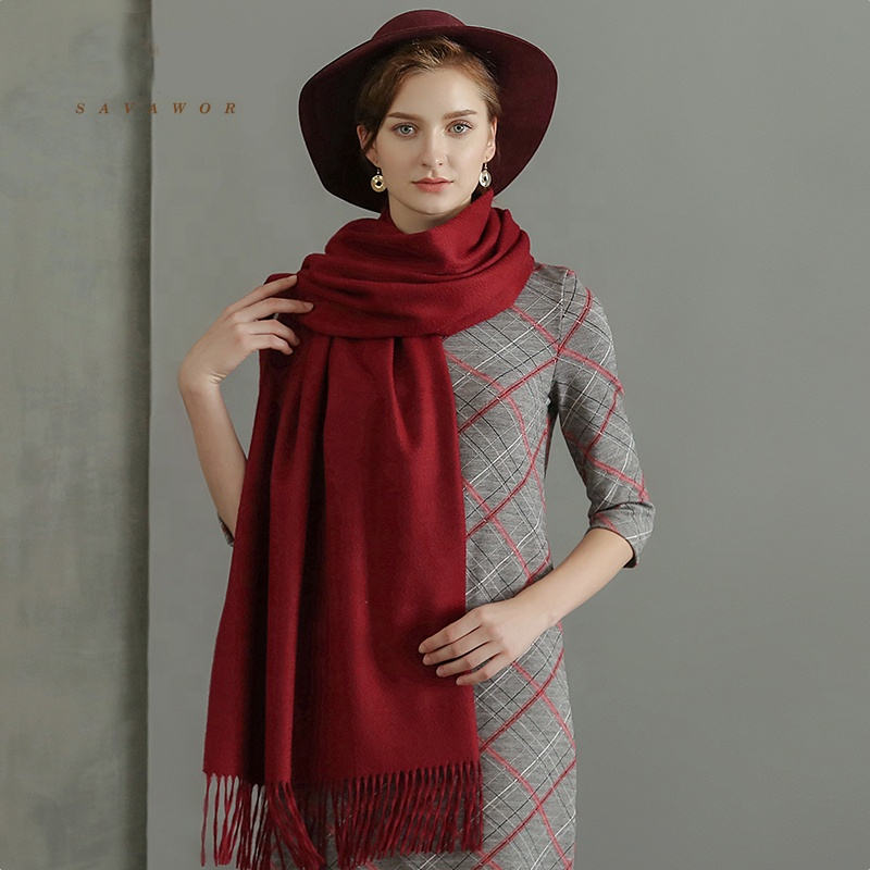 State Cashmere 100% Pure Cashmere Solid Color Scarf Wrap