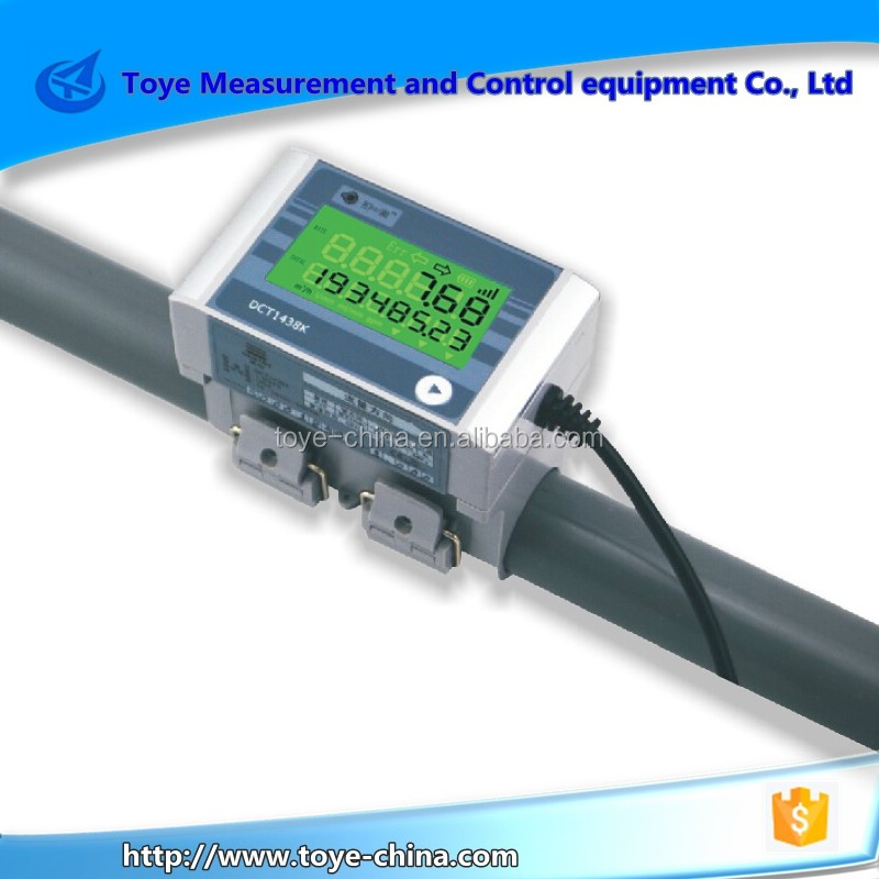 DCT1438K Clamp On PVC.PP Pipe Ultrasonic Transducer Flow Meter For Water Flow Control And Monitoring