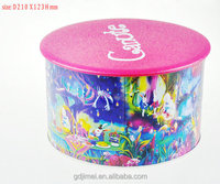 Europe food grade round tin boxes for cookies