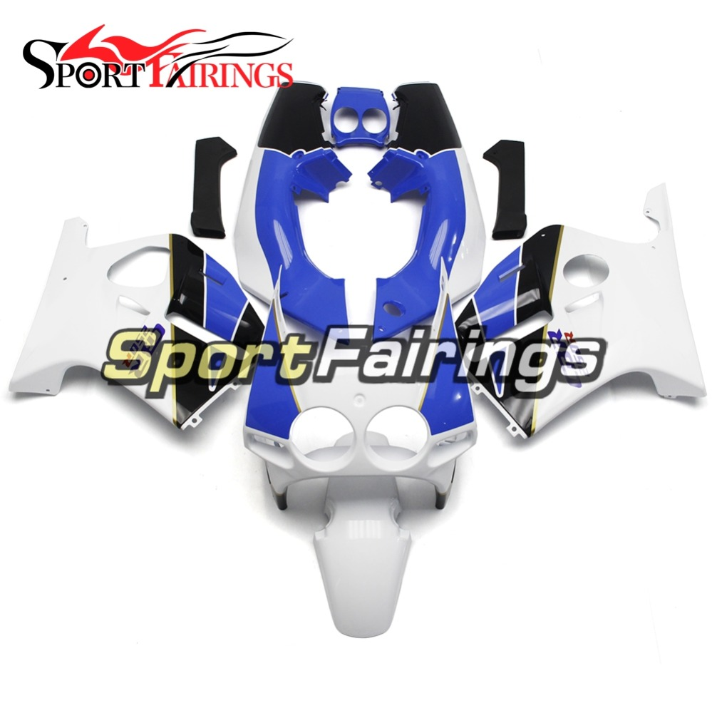 Injection ABS Plastic Complete Motorcycle Fairings For Honda CBR250RR MC19 88-89 1988 1989 Fairing Kits White Blue Sport Bikes