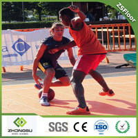 Easy To Install And Clean PP Plastic Outdoor Surface Source basketball Flooring