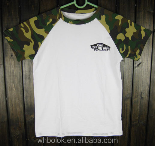 Factory wholesale High quality t shirt white fashion short sleeve camo O-neck polo t shirts