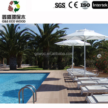 2016 Factory direct sale Company ground construction material WPC wood plastic composite decking / good price wood plastic compo