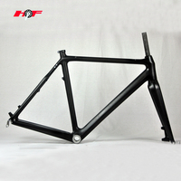 New cyclo cross carbon frame set full carbon cyclo cross bike frame set with inside cable routing frames of HF-FM089