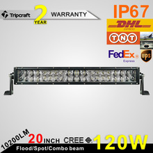 Promotion! 4D 120W curved led light bar double row curved led light bar 20inch 120W wholesale 4D light bar