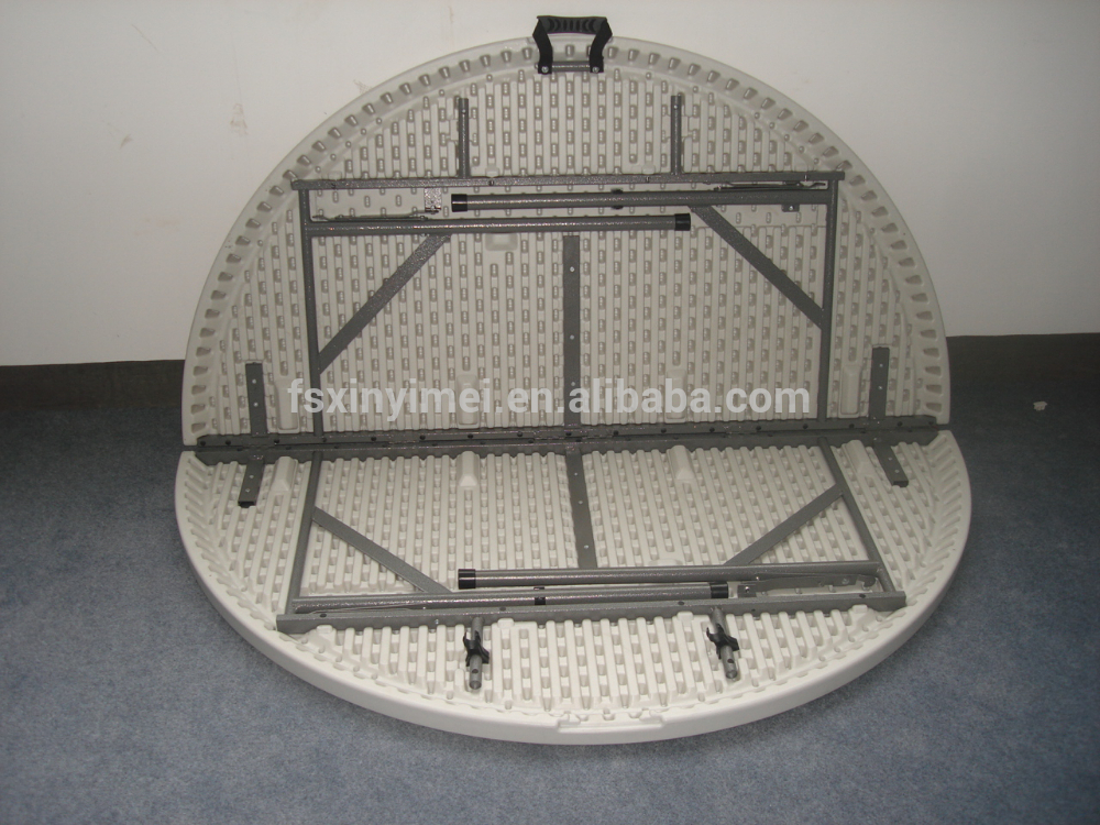 Strong And Light HDPE Round Plastic Outdoor Folding Table XYM-T103_3