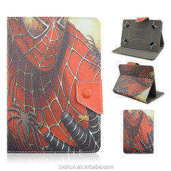 Popular Cartoon Super Heroes Spider-Man Design Folio Stand 7.0inch Universal Cases For Kids Andriod Tablets